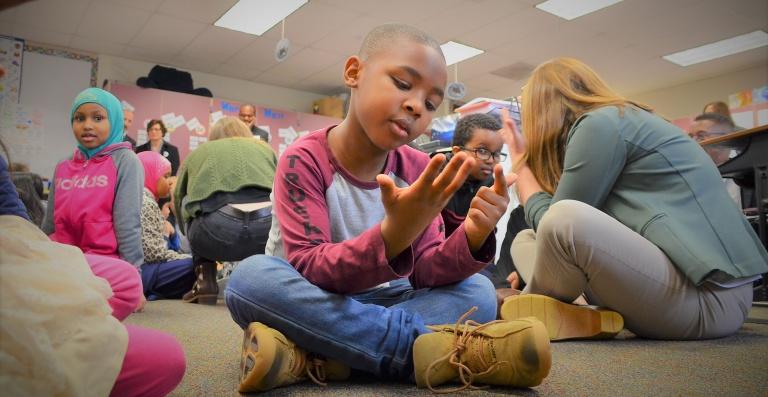 Students in class, Renton School District.